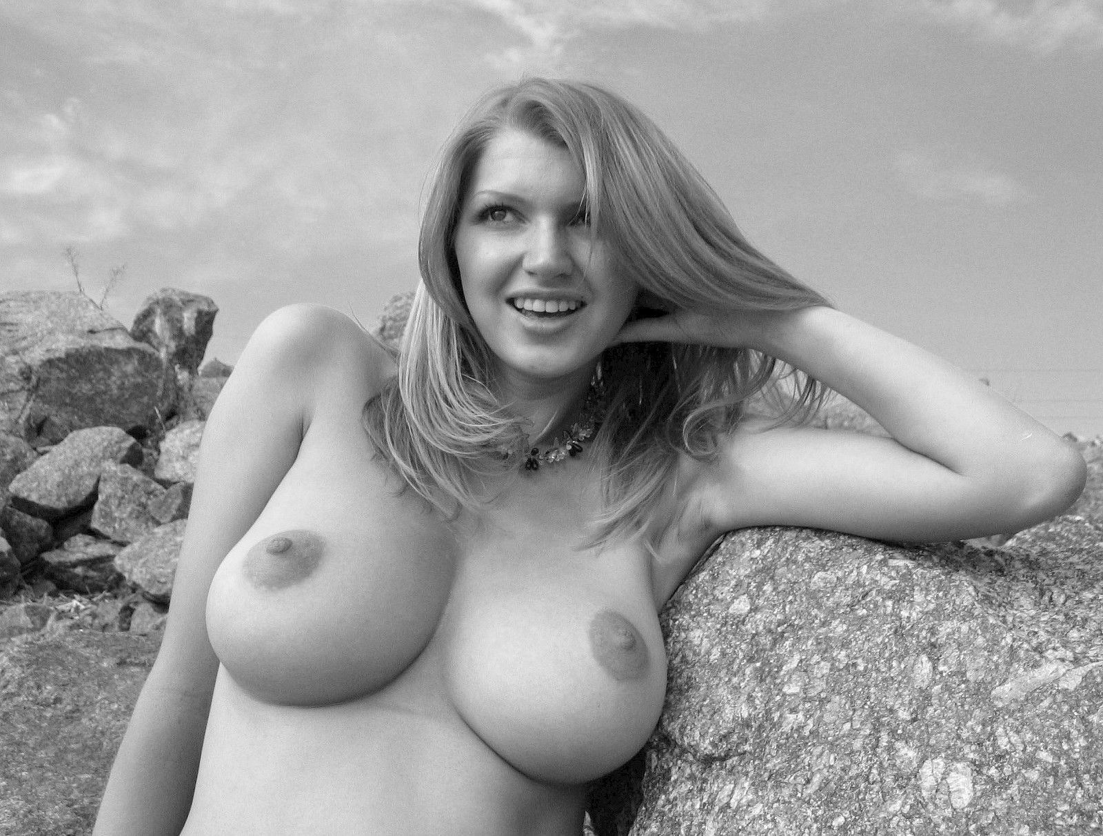 Cute Short Haired Teen With Amazing Big Natural Tits