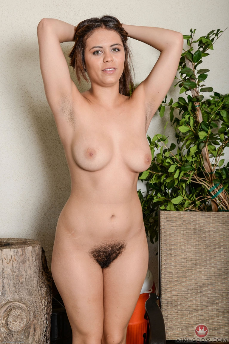 Curvy hairy older naked