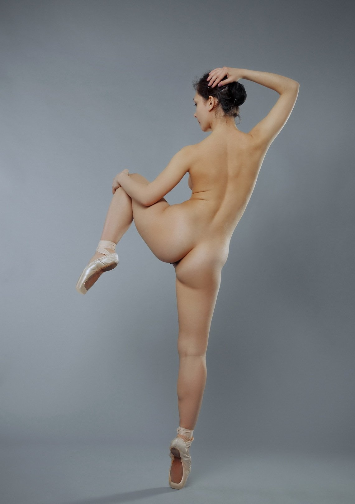 Nude ballerina stock photo