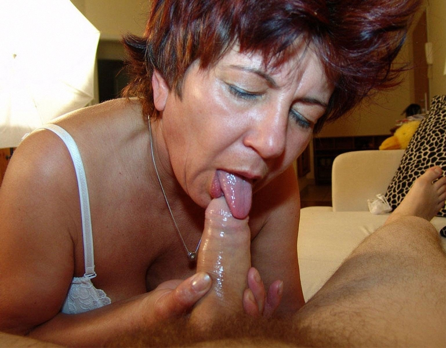 Passionate mom sucks son till cum runs out of her mouth porn images