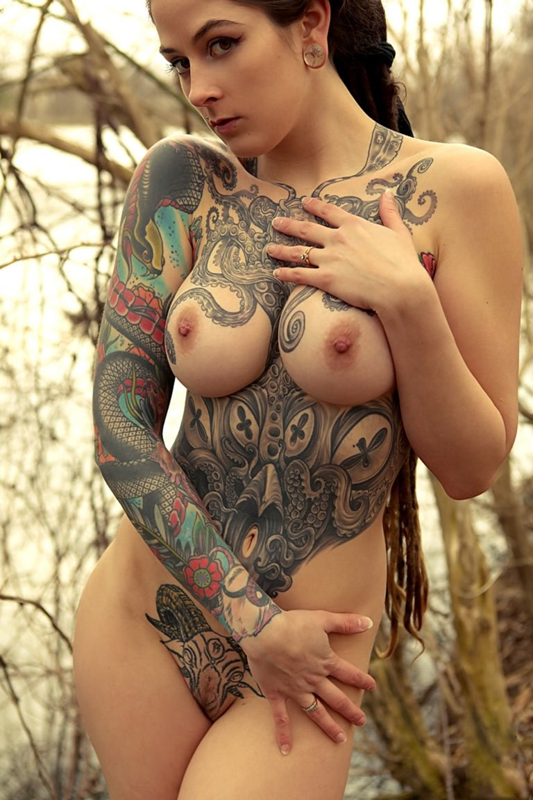 Nude girls full frontal body tattoos