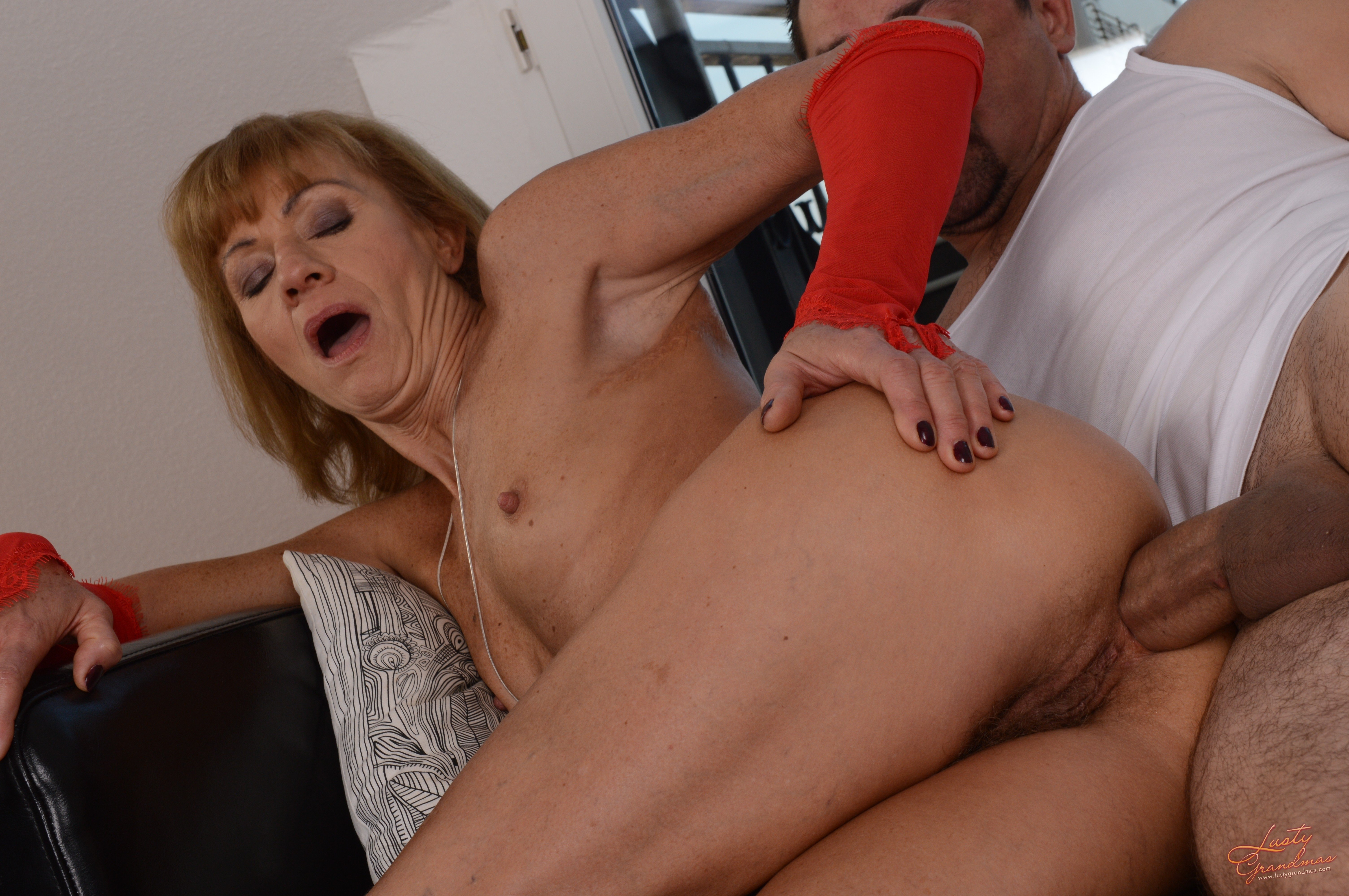 Old woman young man anal