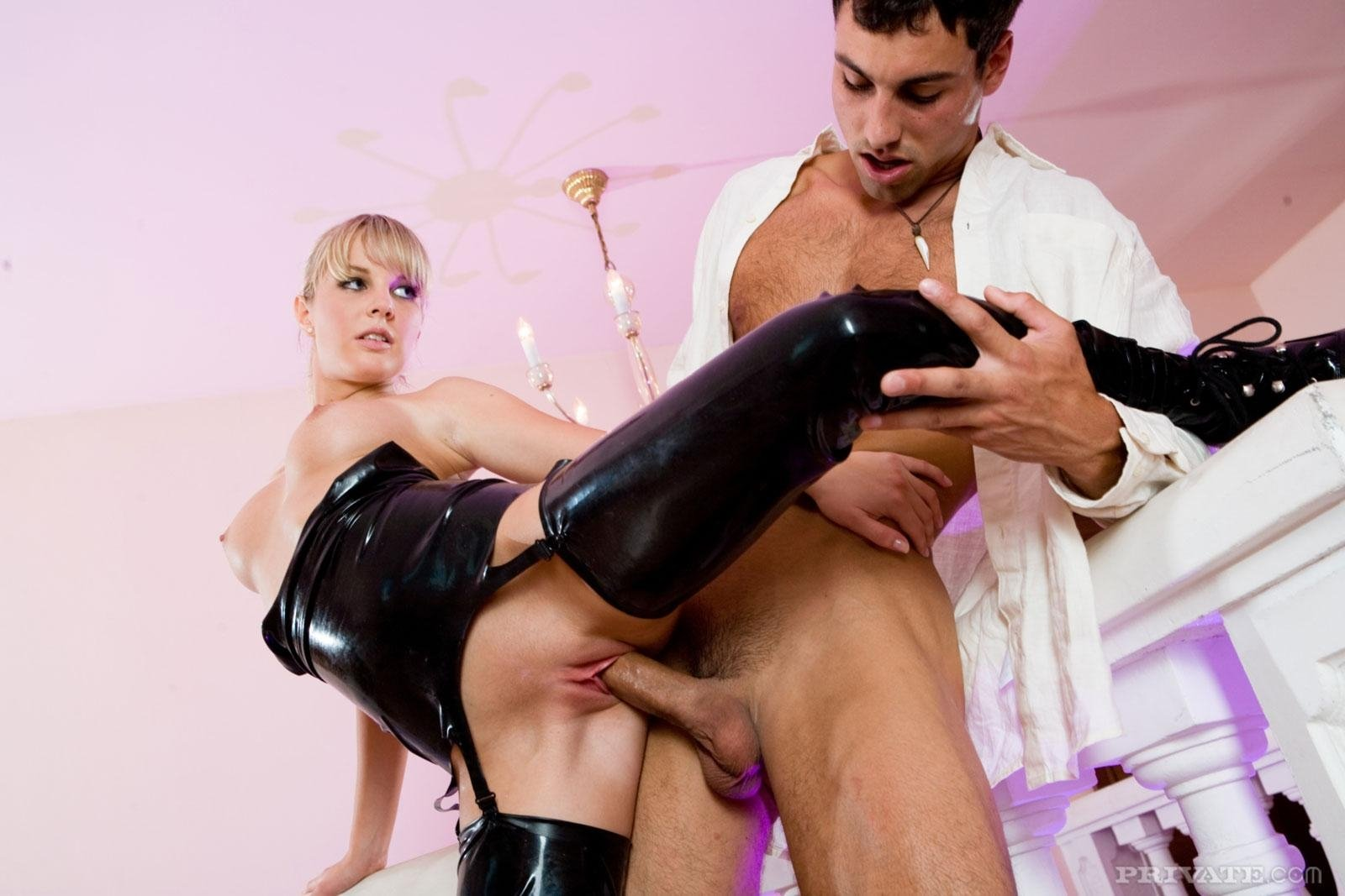 German latex girl anal