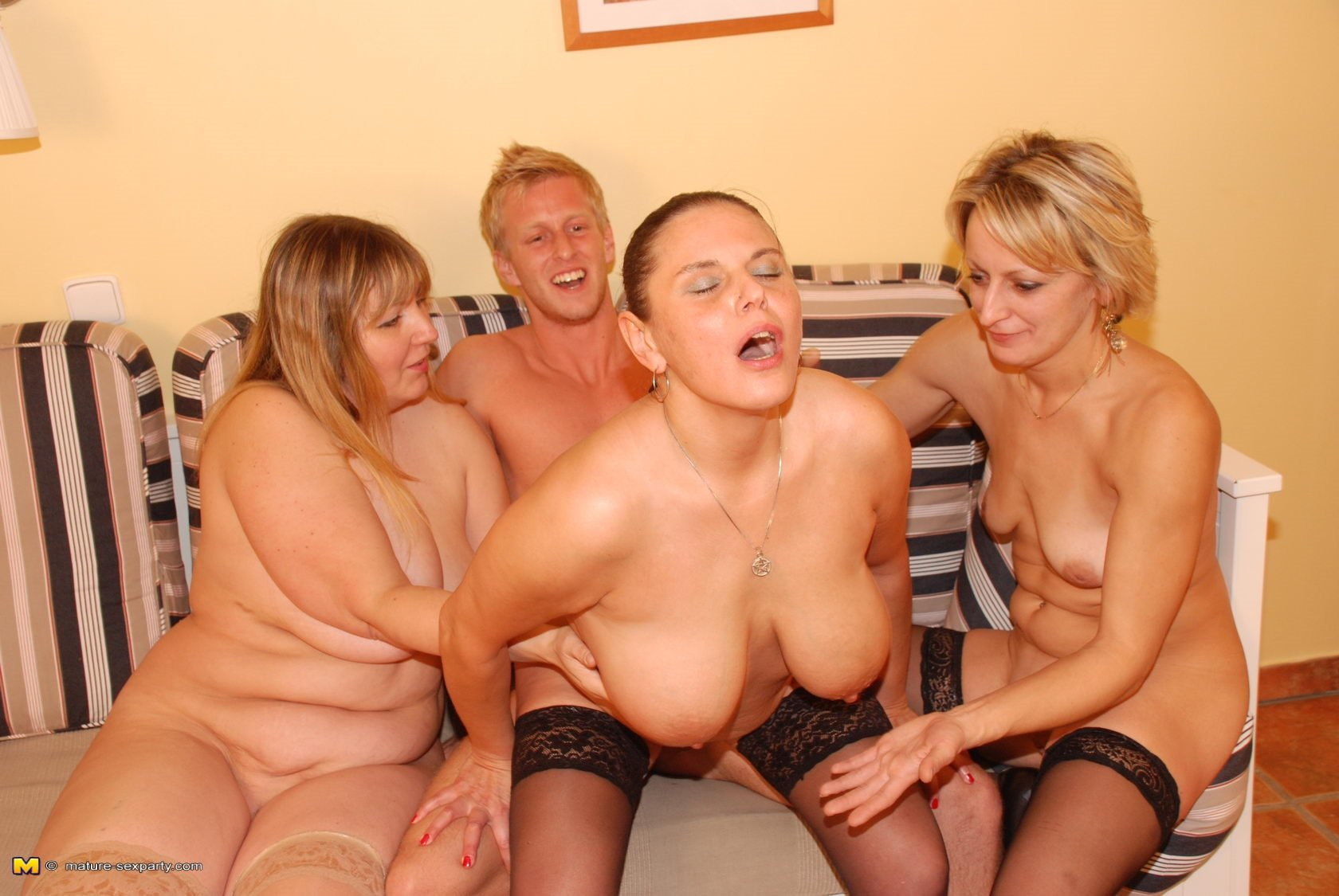 Hairy mature sex party