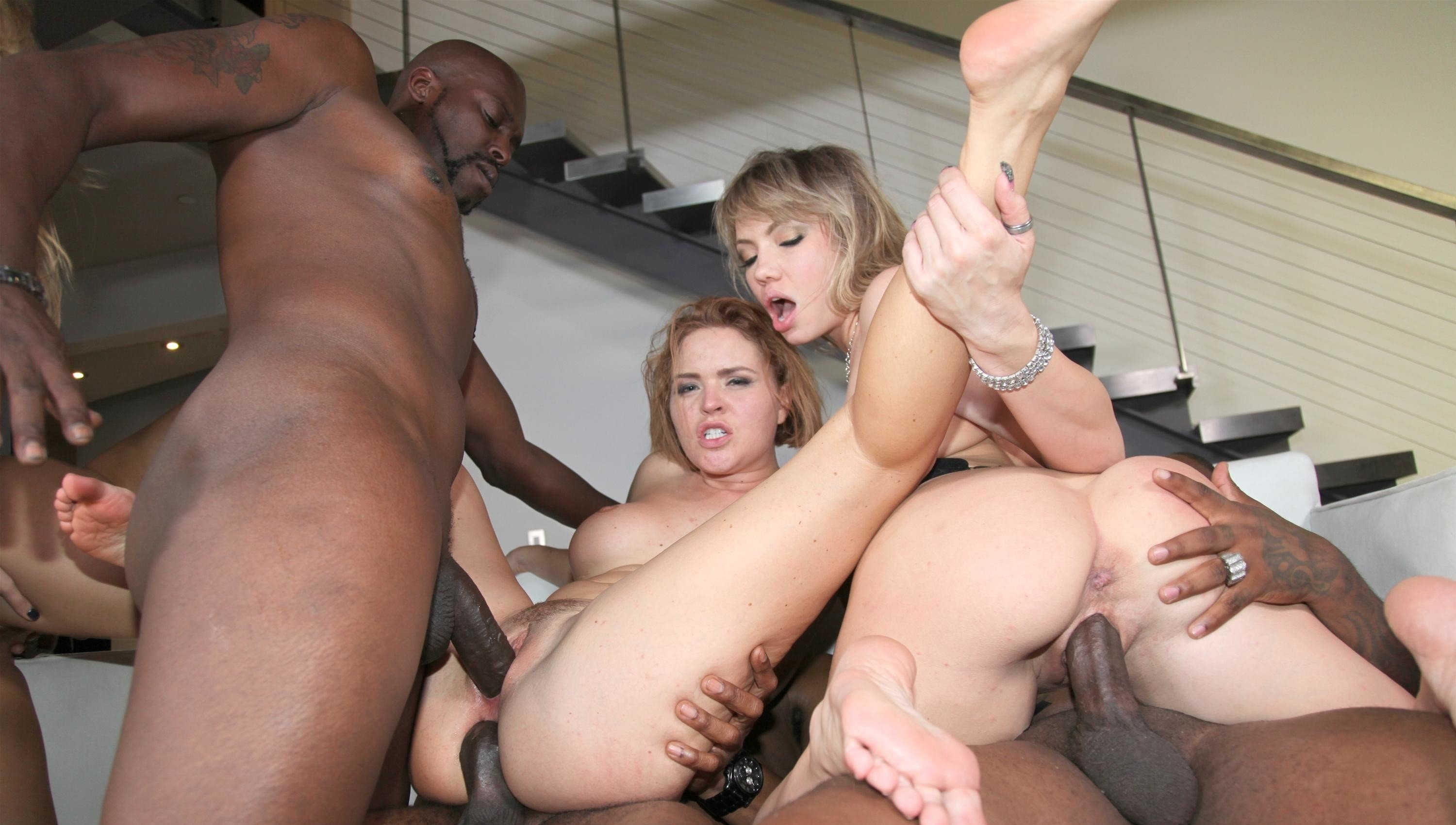 Cherry Kiss In Nasty Anal Gangbang With Six Guys
