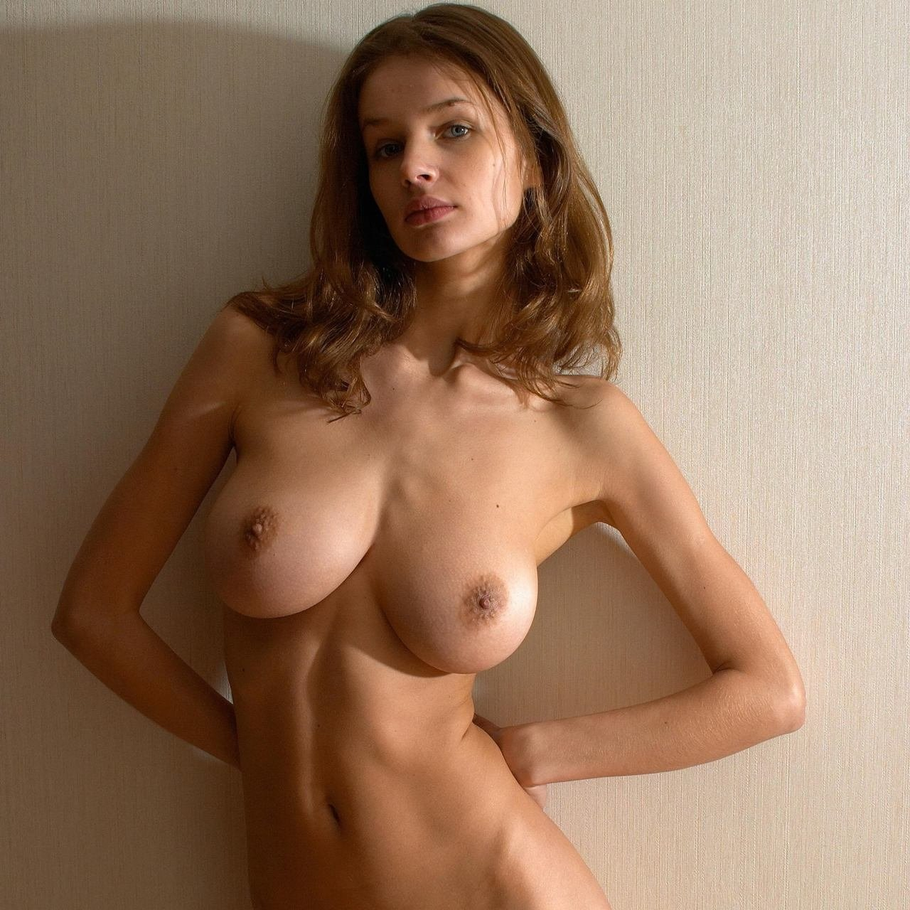Naked skinny girls with big boobs