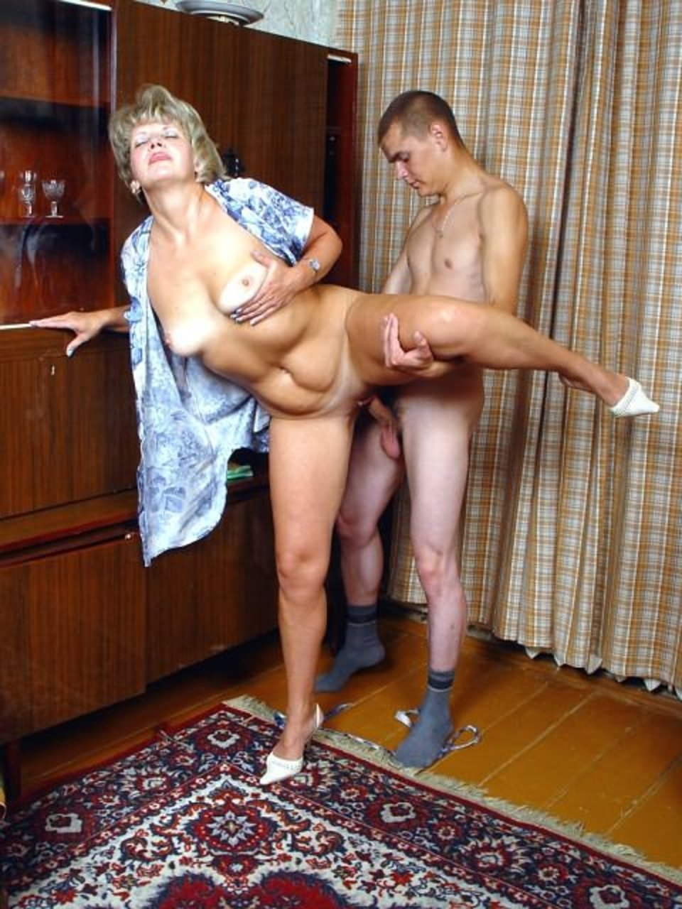 Russian mature woman young stud sex