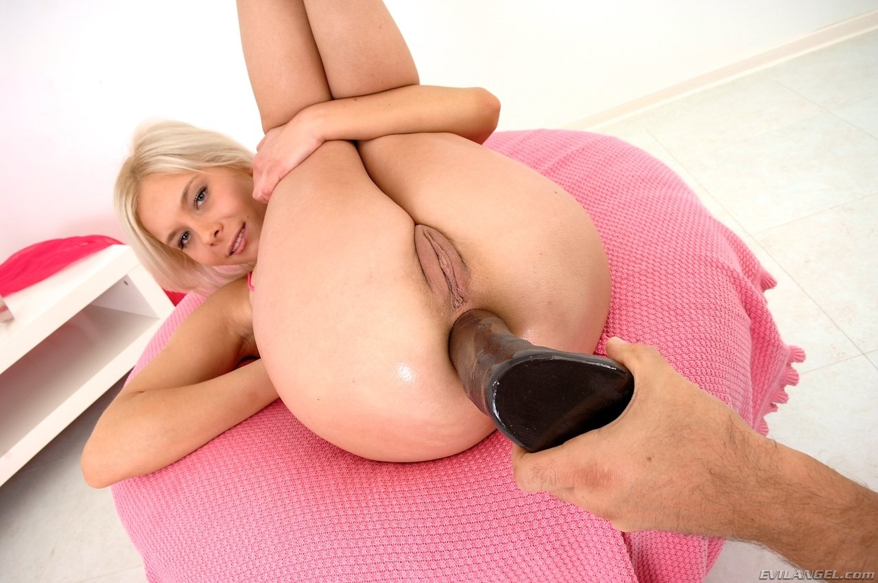 Blonde With Big Perfect Ass Plays With Dildo