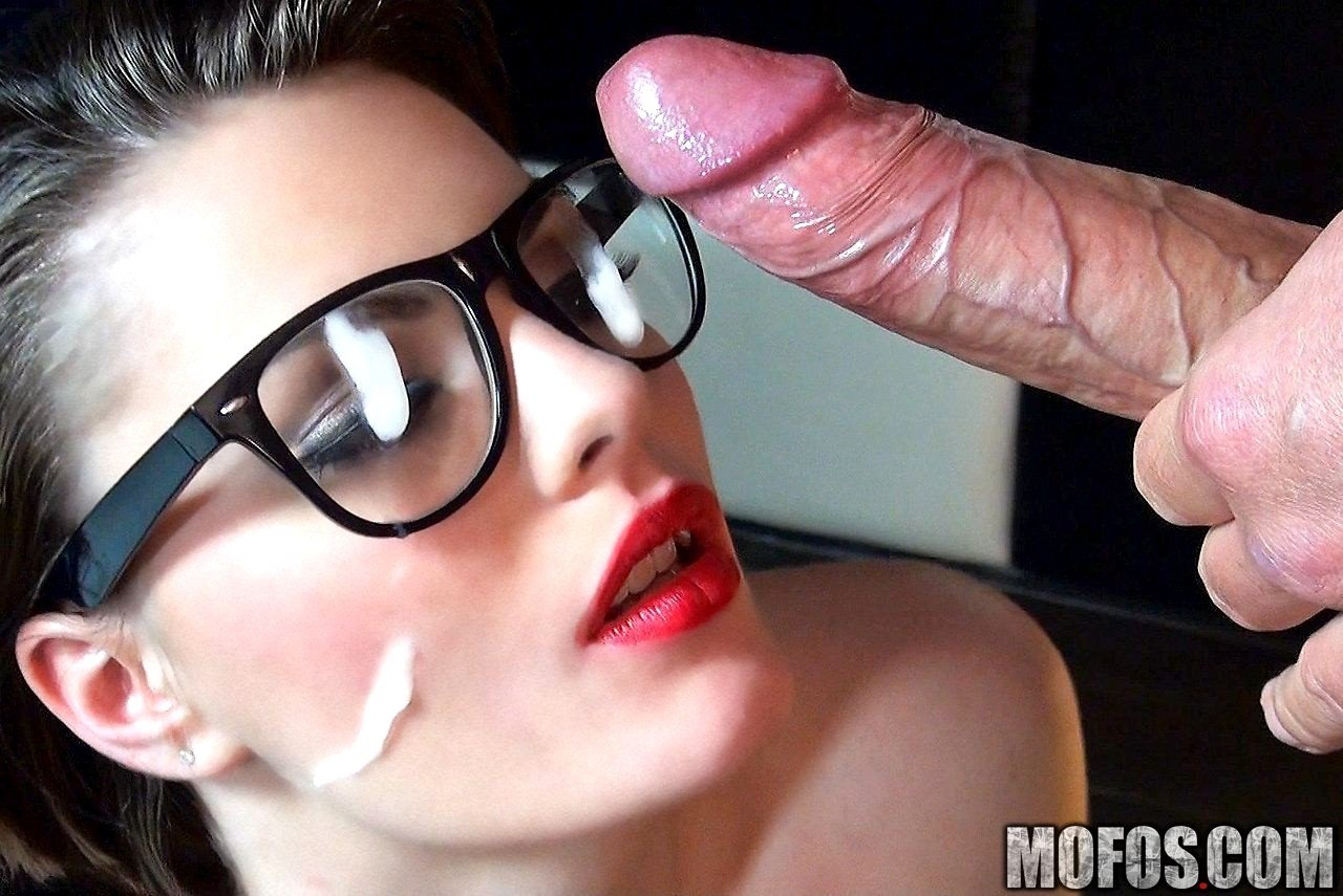 Redhead girl with big natural tits in glasses porn online very cool porn