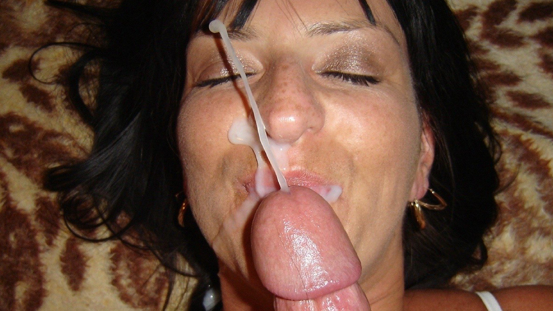 Wife Cock Swallow And Cum Finish In Her Mouth