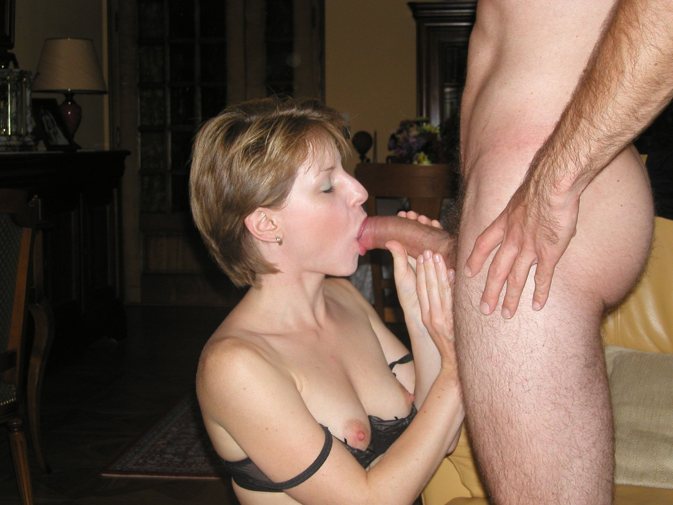 Stunning Wife With An Amazing Body And Lovely Breasts Giving Lover A Blowjob