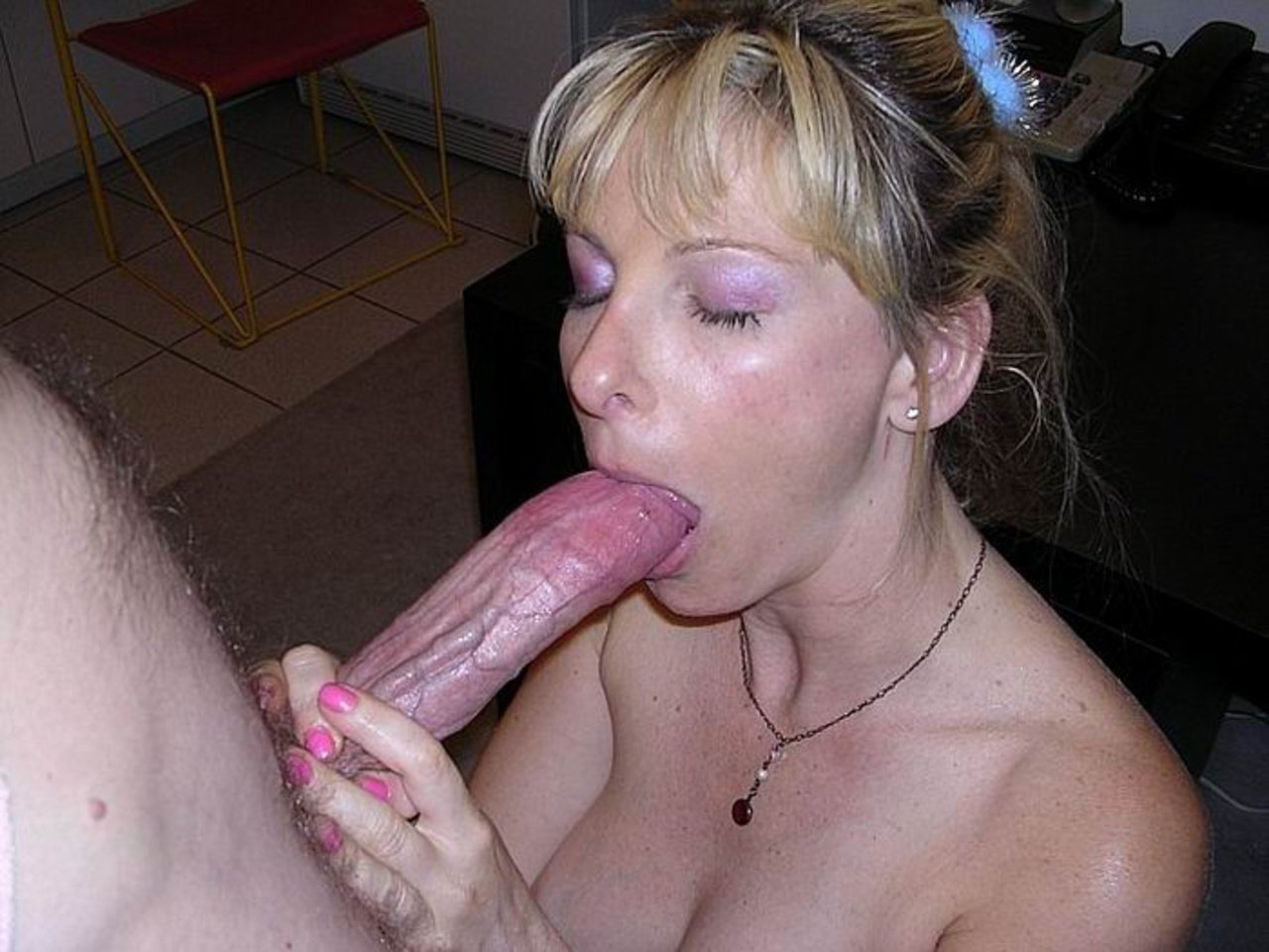 Mature Canadian Blonde Is Addicted To Cocksucking